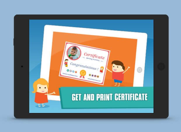 Get and print your certificate slide show image