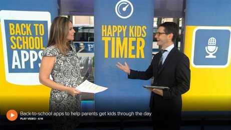Happy Kids Timer featured on TODAY'S TECH online TV show