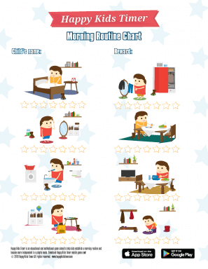 HappyKidsTimer Morning Chore Chart Boy Theme